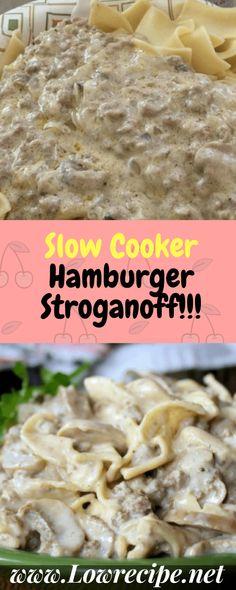 Slow Cooker Hamburger Stroganoff!!! - Low Recipe