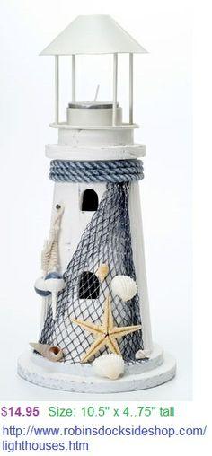 Nautical decor Lighthouse - Lighthouse Candle Holder with Starfish Decor 10 5 . Lighthouse Lamp, Nautical Bathrooms, Beach House Decor, Home Decor, Nautical Home, Beach Crafts, Beach Themes, Coastal Decor, Decorative Accessories
