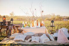 Boho Wedding Inspiration for Santa Cruz Wedding with Wedding Planning and Design by Something Blue!
