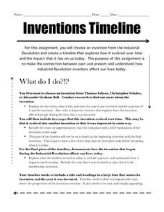 a research on the inventions in the industrial revolution Introduction the era known as the industrial revolution was a period in which fundamental changes occurred in agriculture, textile and metal manufacture, transportation, economic policies and the social structure in england.