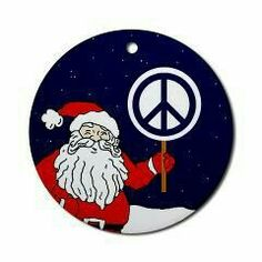 Santa with peace sign Hippie Peace, Happy Hippie, Hippie Love, Hippie Chick, Hippie Art, Peace Sign Images, Peace Sign Art, Peace Signs, Christmas Love