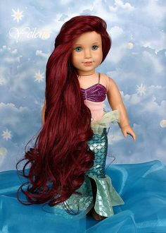You can re-create Ariel's original look… | 29 Incredible Character Transformations For Your American Girl Doll