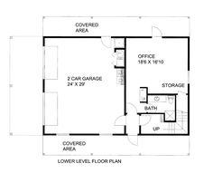 Garage Plan chp-54783 at COOLhouseplans.com