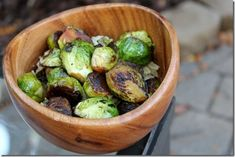 Asian sesame glazed brussel sprouts. If you like em crunchy this is perfect, but if you like them softer I suggest adding some liquid ans steaming a bit before adding the glaze. Either way- tasty!!