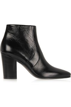 Saint Laurent | Textured-leather ankle boots  | NET-A-PORTER.COM