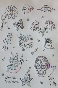 Day Something I Need. I need to decide what tattoo to have next. Here are some of the shortlisted ones. By Teena McDougall. 30 Day Drawing Challenge, Tattoos, Drawings, Art, Art Background, Tatuajes, Tattoo, Kunst, Sketches