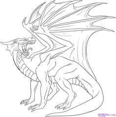 This is your last drawing step and what you will do now is draw out the dragon scales on the neck, chest, and stomach and under the tail that is visible. Description from dragoart.com. I searched for this on bing.com/images
