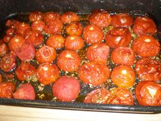 I have used this recipe for years and it never fails. I usually make it in the summer as we usually have a vegetable garden and always end up with too many tomatoes, I then make in batches,for the freezer. I use a lot of garlic in this recipe but thats because we love it and the garlic sweetens in the roasting process. I have strained the sauce at times to remove the seeds. Though most people dont mind tomato seeds.