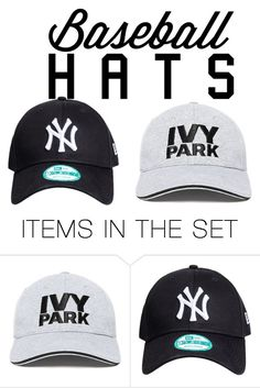 """""""baseball hats"""" by kellytaylor62760 ❤ liked on Polyvore featuring art"""