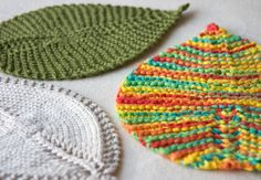 Leafy Washcloth by Tricksy Knitter. I don't know that I'd use them as washcloths but they sure are pretty :)