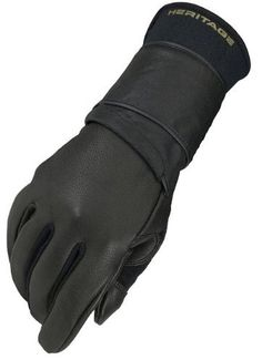 Heritage Jr. Pro 8.0 Bull Riding Glove (Black) by Heritage. $16.60. North American Deerskin leather for durability and perfect fit.. Soft deerskin palm rosin sticks very well to palm surface.. Most technically advanced bull riding glove n the sport.. Stretch nylon spandura interior walls of fingers and thumb for mobility.. Double layer leather rope channel, double stitched for increased grip & durability.. The Heritage Pro 8.0 Bull Riding glove is the most technically advanced ...