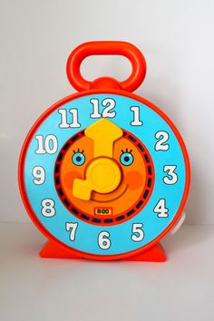 Vintage Mattel Talking Clock Toy by PeppermintandCocoa on Etsy, $11.00