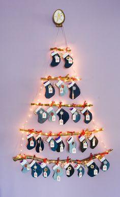Denim DIY Mini Stocking Advent Calendar, Reusable Advent Calendar · vicky myers creations - - Learn how to make your own denim DIY mini stocking Advent Calendar, FREE templates and printable activity ideas for each stocking. Reusable Advent Calendar, Homemade Advent Calendars, Crochet Advent Calendar, Ideas Decoracion Navidad, Navidad Diy, Diy Christmas Stocking Pattern, Christmas Diy, Christmas Decorations, Christmas Sewing