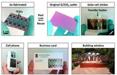 Researchers at Stanford University have created thin, flexible solar panels that can be applied like a sticker to a variety of both flat and curved surfaces – including glass, plastic and paper – without any loss of efficiency. They are lighter than equivalent-sized traditional photovoltaic panels and not so expensive to make...