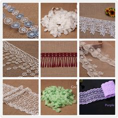 Bulk 5yards Colorful Fabric Lace Embroidered Bilateral Applique Trims Sewing  #Unbranded