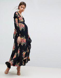 d8053523 ASOS Maternity | ASOS Maternity Long Sleeve Floral Maxi Dress Floral  Maternity Dresses, Asos Maternity
