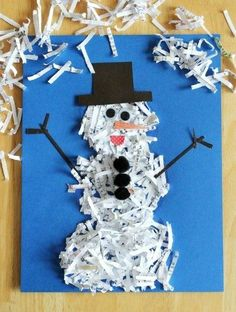 7 snowman crafts for kids christmas activities for kids, holiday crafts for kids, xmas Kids Crafts, Arts And Crafts, Kids Diy, Toddler Crafts, Clay Crafts, Felt Crafts, Easter Crafts, Make A Snowman, Snowman Crafts