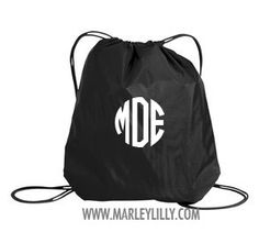 Monogrammed Cinch Pack | Gym & School | Marley Lilly
