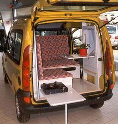 C-tech: Camping Van - Mini Camper - Renault Kangoo - Camping-car, Camping - diy deko Auto Camping, Minivan Camping, Camping Diy, Truck Camping, Camping Hacks, Camping Items, Camping Supplies, Camping Essentials, Kombi Motorhome