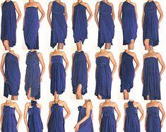 Convertible Wrap Infinity Multi way dress or Tunic in by Loretari