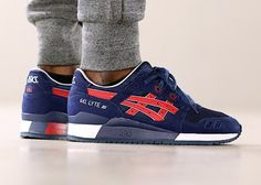Asics Gel Lyte 3 Metro 'Indian Ink Tango Red'