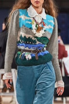 Marc Jacobs Spring 2020 Ready-to-Wear Fashion Show - Vogue Knit Fashion, Fashion Week, Fashion 2020, High Fashion, Fashion Show, Womens Fashion, Fashion Trends, Marc Jacobs, Mode Bcbg