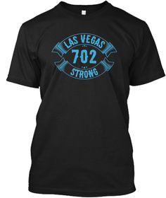 Las Vegas 702 Strong T Shirt  Black T-Shirt Front