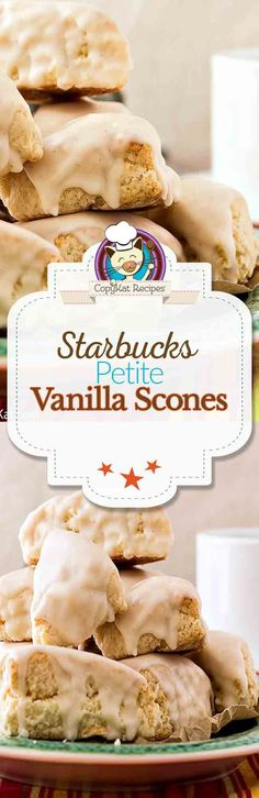 Enjoy this copycat recipe for Starbucks Petite Vanilla Scones.  This recipe is perfect weekend breakfast treat you are going to love.