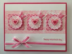 This card was made using the flower image from the Sale-A-Bration set called Madison Avenue. It also uses the new melon mambo, striped organdy ribbon in the Stampin' Up! spring minicatalog. Happy early valentines day! To see more check out my blog.
