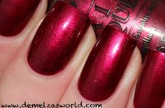 OPI - Bogota Blackberry. I think I've worn this before. So pretty!