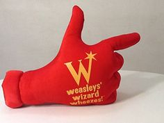 Harry Potter Weasleys' Wizard Wheezes Plush Hand Sign - Large 20 inches long by 12 inches high.