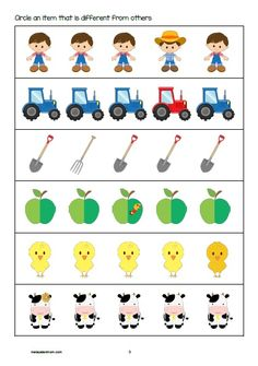 Farm Printable Pack | Free activity sheet for Pre-K, K1 & K2. Read more @malaysianmom.com