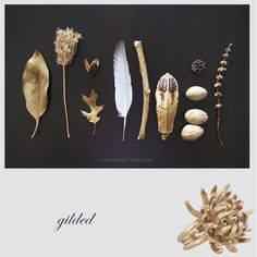 gilded ... or what about casting objects (inside a pepper, tree bark texture...)