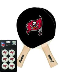 Tampa Bay Buccaneers NFL Table Tennis Paddles and Balls Set (2 Paddles and 6 Balls )