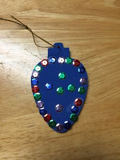 Foam ornaments for preschoolers - cheap and easy.