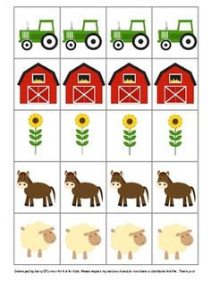 Fun Farm FREEBIE - 10 different pictures for patterning - Revised