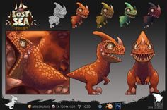 Minisaurus, Odin Fernandez Moreno on ArtStation at https://www.artstation.com/artwork/minisaurus
