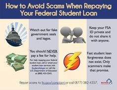 Protect yourself against scams when repaying your federal student loans! #NCHER