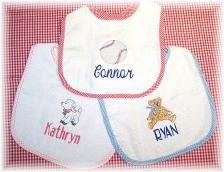Personalized Baby Bib by babyobaby.com. Now also at Etsy babyobabycom.