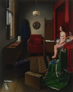 JAN VAN EYCK VS. EDWARD HOPPER: MARRIAGE - MARK LANG this is interesting, I can't tell if they just felt like butchering Eyckes symbolism or if there's meaning to it