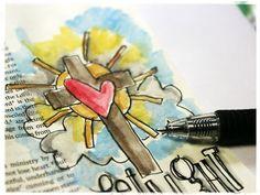 Bible journaling painting steps/tips ~ Stephanie Ackerman