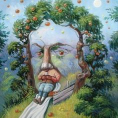 35 Mind-Twisting Optical Illusion Paintings By Oleg Shuplyak Optical Illusion Paintings, Optical Illusions Pictures, Illusion Pictures, Art Optical, Illusion Kunst, Illusion Art, Oleg Shuplyak, Isaac Newton, What Do You See