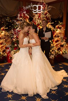 first same-sex wedding legally performed at 12:01 12/9/12 - historical moment for WA state!!  by jenny gg