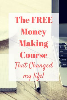 If you're looking to make money from home, or even start a blog as a source of income this FREE money making course is a fantastic place to start.
