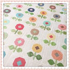 Just dropped my #bloomwhereyoureplantedquilt off at the quilters this morning....can't wait to get it back!!! #beeinmybonnet #quiltyfun #quiltyfunscrappysewalong
