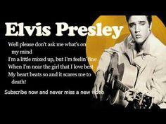 Elvis Presley - All Shook Up - Lyrics