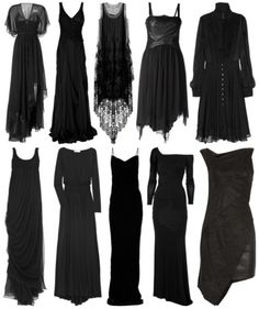 ''I'll stop wearing black when they make a darker colour...''