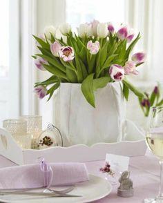 décoration pâques table