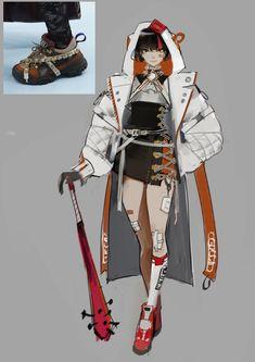 수줍 on in 2020 Female Character Design, Character Design References, Character Design Inspiration, Character Concept, Character Art, Concept Art, Fantasy Characters, Female Characters, Space Opera