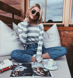 "35k Likes, 375 Comments - Caroline Daur (@carodaur) on Instagram: ""Good Morning Berlin ☕️ wearing the new limited birthday sweater by @marcopolo  Happy 50th…"""